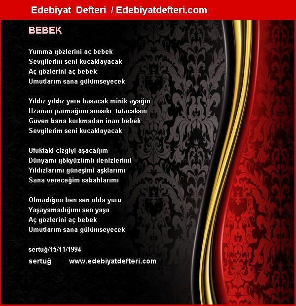 BEBEK Şiiri Edebiyatdefteri.com sitesinde otomatik olarak oluşmuştur. Sizde şiirinizi otomatik e-kart yapın!