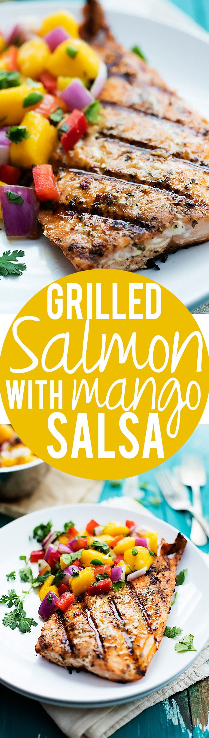 Grilled Salmon with Mango Salsa   Creme de la Crumb