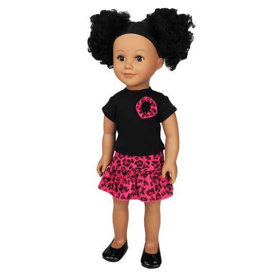 Doll Pink Leopard Party Outfit By Creatology