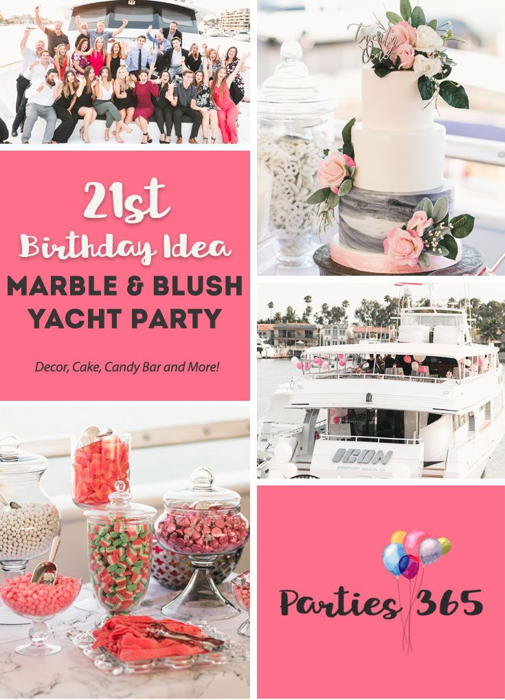 This 21st Birthday Party On A Yacht Is Sure To Inspire Your Next Milestone With Marble And Blush Theme Was Filled Modern