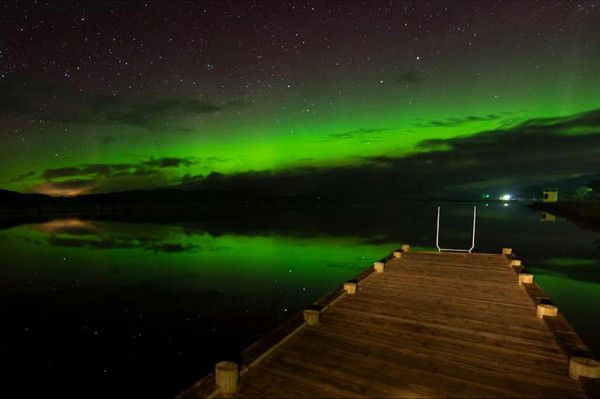 Aurora Australis over a jetty on the Huon river, Tasmania.   Submitted by: Nick Monk  08/10/2012