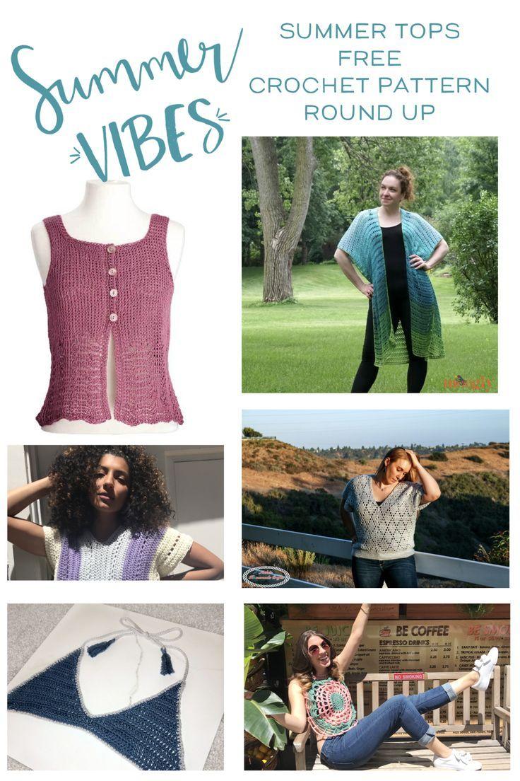 d9a4d30f72 Summer Festival Top Free Crochet Pattern Round Up | Summer Crochet ...
