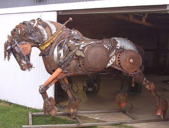 Scrap Metal Rust Stallion