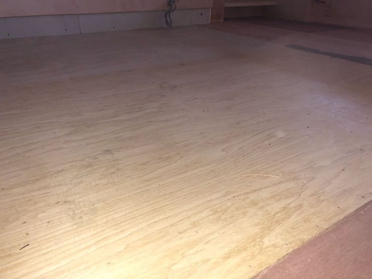 We put down a new subfloor of 6mm ply board.