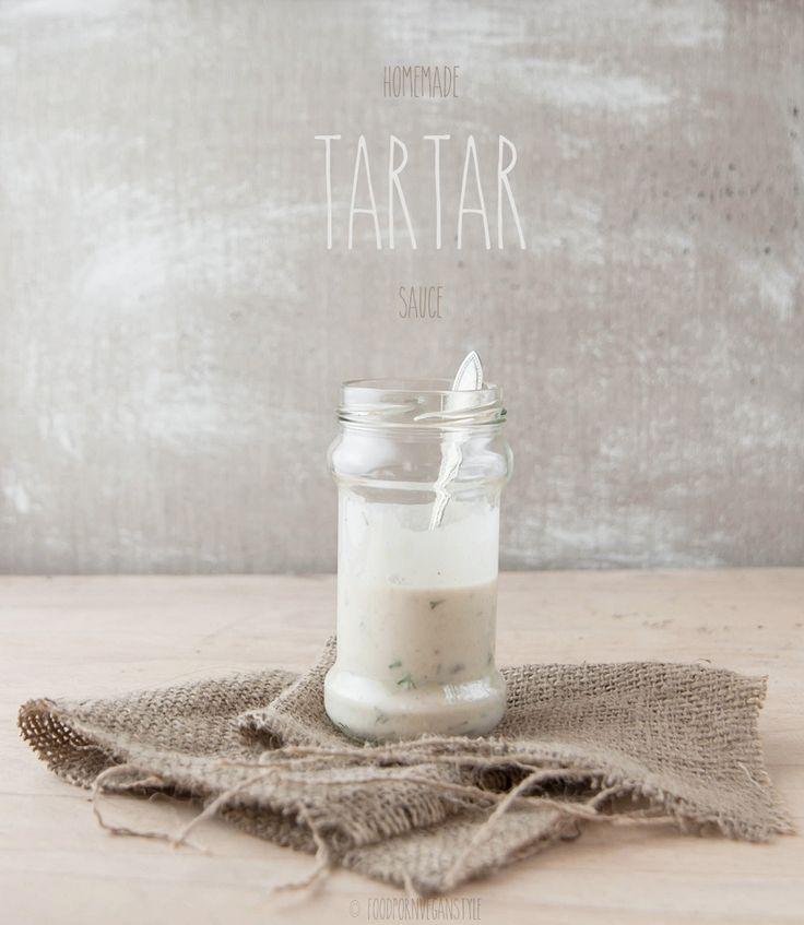 Vegan tartar sauce & white bean mayonnaise