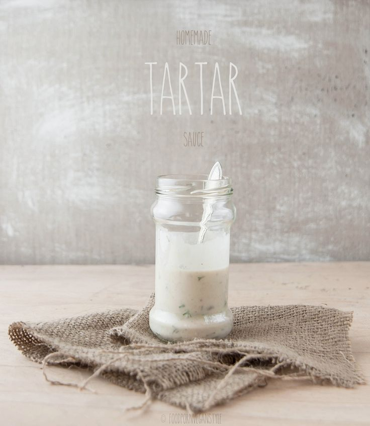 Vegan tartar sauce & white bean mayonnaise