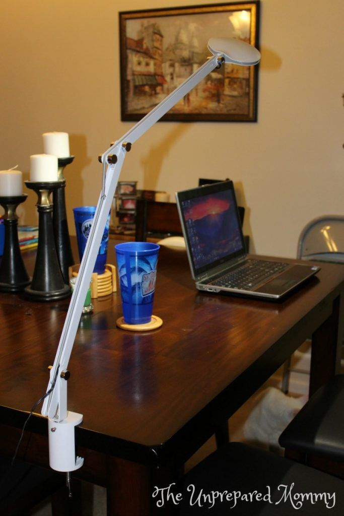 The unprepared mommy reviews the ottlite led crane lamp with clamp