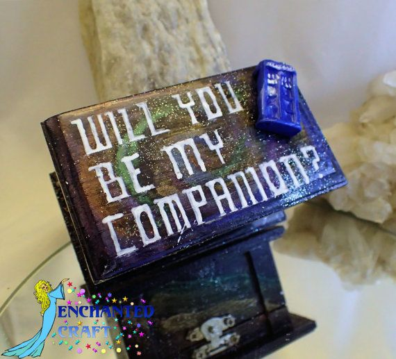 Dr Who Tardis ring box Will you be my Companion by EnchantedCraft
