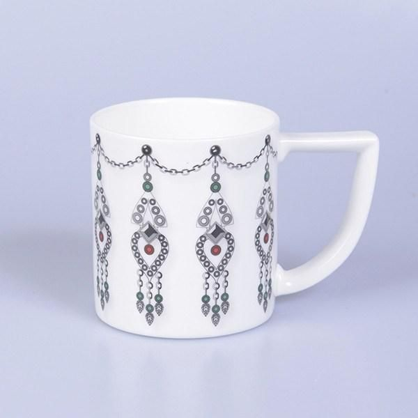 Beautiful 'Jewel' Mug adorned with diamonds and rubies that your mother will love. Handmade in Stoke-on-Trent, England with a matching candle also available. Fine Bone China #Jewels #Jewellery #MadeInStokeOnTrent #MadeInEngland #Mug #FineBoneChina #Gift #GiftsForHer #GiftInspiration #Tea #Coffee