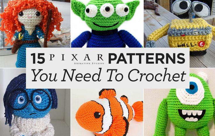 15 Pixar-Inspired Patterns You Need To Crochet | Top Crochet Pattern Blog