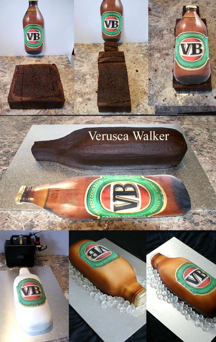 Beer Bottle Cake Step-by-step by Verusca.deviantart.com on @deviantART