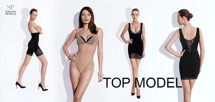 """Přemýšlíte o koupi kvalitního stahující prádla? Prohlédněte si nabídku produktů řady """"Top Model"""":/simone-perele/top-model/ francouzské značky Simone Perele. Tento stahující program vyvinutý rovněž za účelem vyhlazování projevů celulitidy se nám v prodeji velmi osvědčil.Prádlo je pevné, perfektně modeluje tělo a navíc má i šmrnc francouzské elegance díky krajkovému zakončení lemů."""