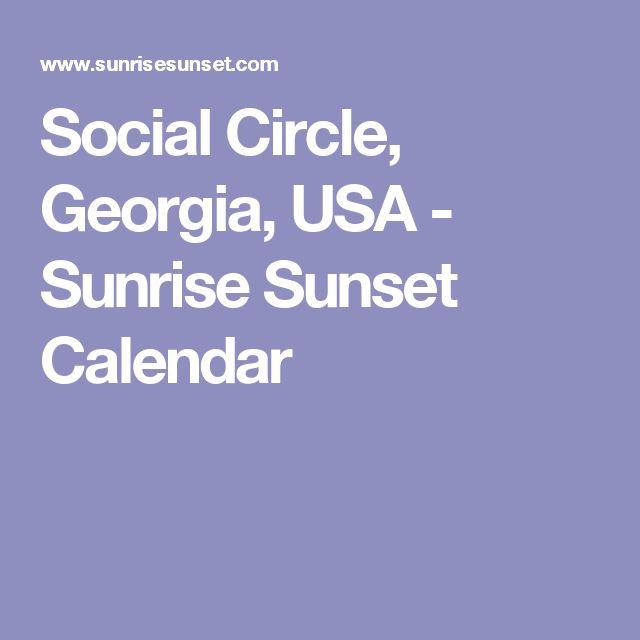 Social Circle, Georgia, USA - Sunrise Sunset Calendar