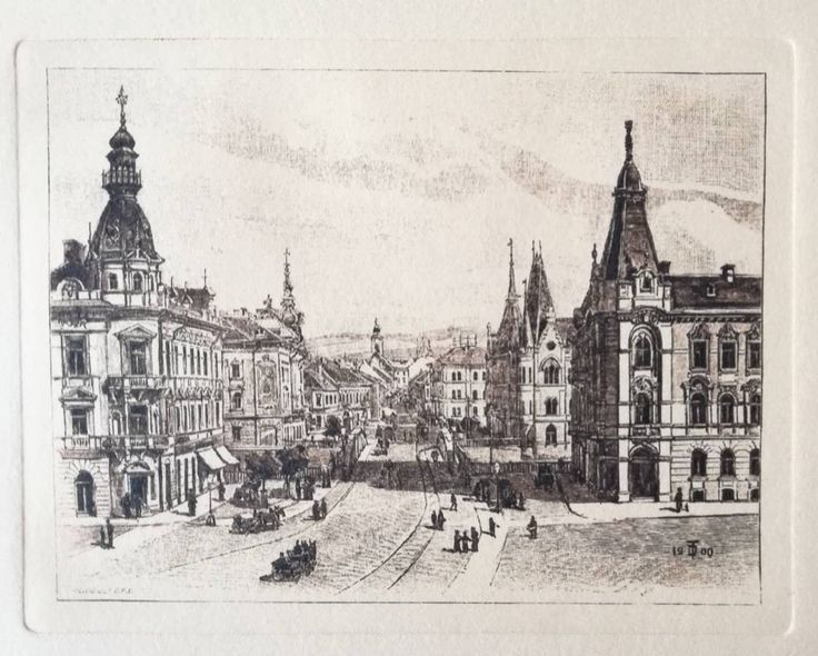 Excited to share the latest addition to my #etsy shop: View of Cluj, in Transylvania, Romania, hand-pulled engraving on handmade paper, dry stamp, retro art gift, mechanically engraved plate http://etsy.me/2HJ3pyf