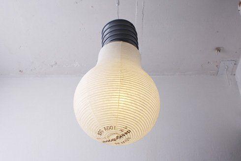 和紙の電球