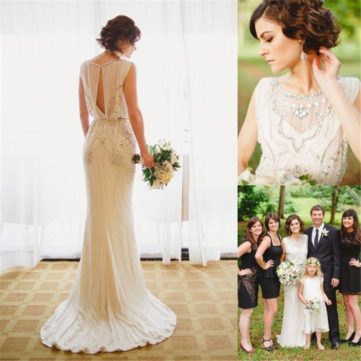 Vintage-Jenny-Packham-Wedding-Dresses-2016-Luxury-Crystals-Beading-Boat-Neck-Keyhole-Back-Vestidos-De-Novia99