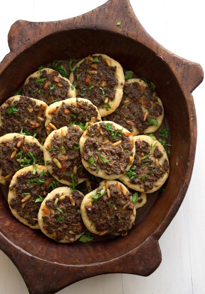 Sfeeha- Middle Eastern Mini Lamb Pizzas from Nadia Sawalha's 'Stuffed Vine Leaves Saved My Life'     Addictive...so addictive!