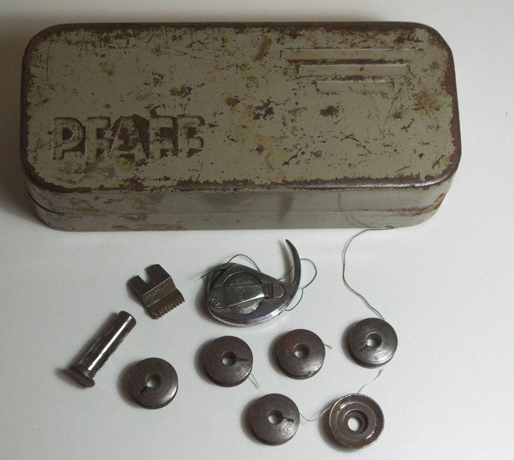Vintage PFAFF Sewing Tin Box Sewing Attachment Storage - Vintage PFAFF Box