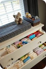 store cloth diapers in dresser