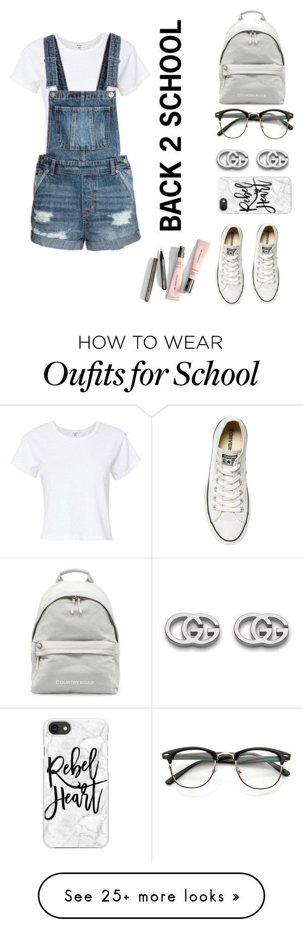 """""""back 2 school #2"""" by cicilia-howell on Polyvore featuring RE/DONE, Converse, Gucci and Casetify"""