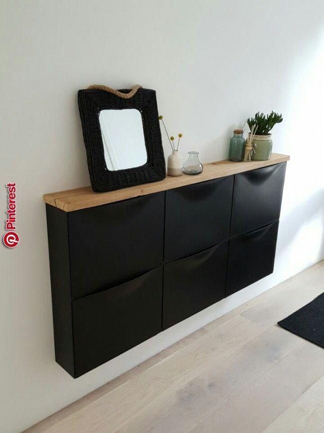 Ikea schoenenkast met oud eiken plank! | Möbel für kleine ...