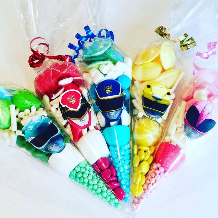 Power Rangers sweet candy cones birthday party bags and favors. Free UK Postage by SweetMafia on Etsy https://www.etsy.com/uk/listing/506263366/power-rangers-sweet-candy-cones-birthday