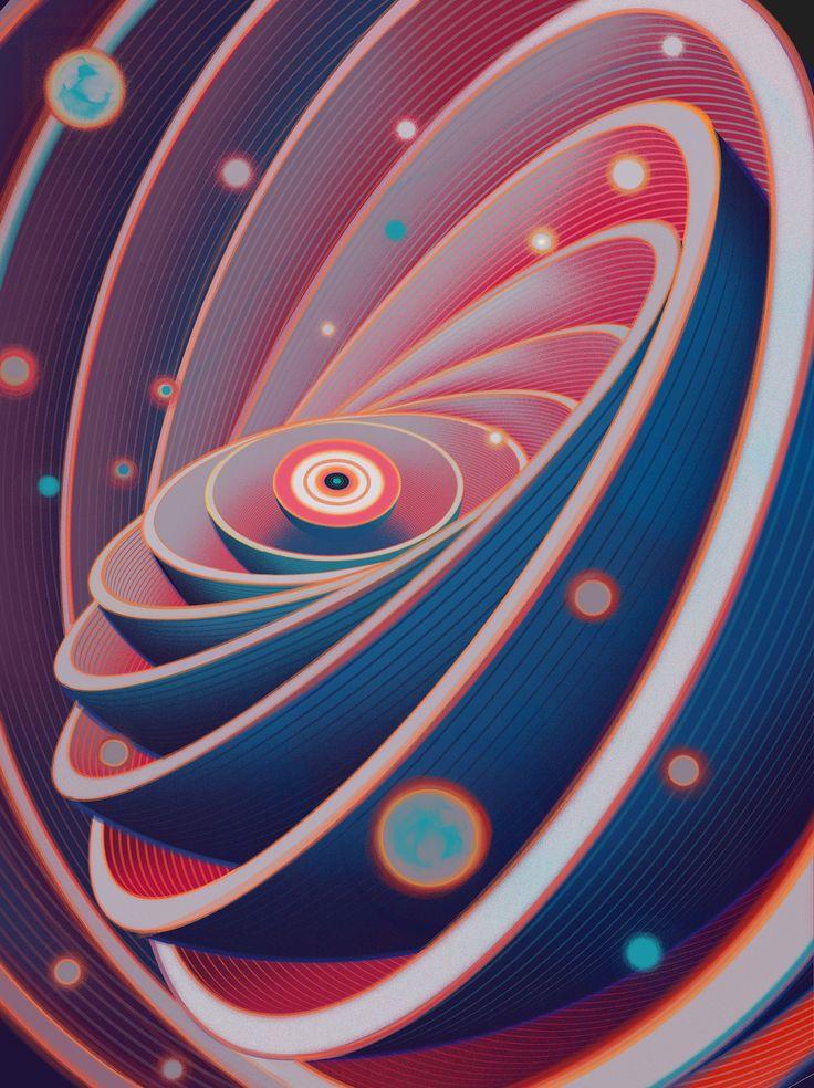 Ilustracion del set 'Quantum Physics' de Sam Chivers