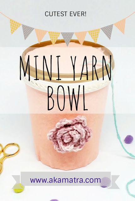 DIY mini yarn bowl - Full photo tutorial