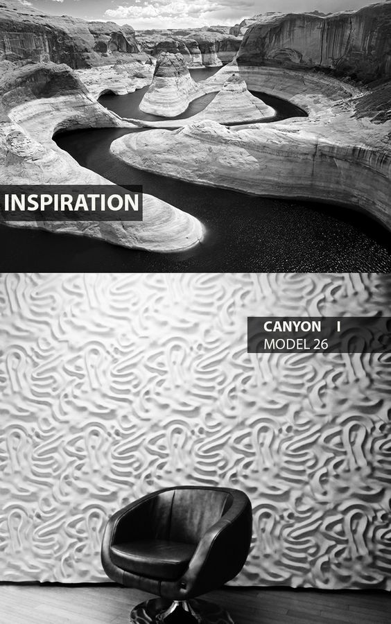 Canyon - model 26 - Inspiration. Click at the photo to get more information or to visit our website.  #LoftDesignSystem #Decorativepanels #Inspiration #Interior #Design #wallpanels #3Ddecorativepanels #3dpanels #3dwallpanels #house #home #canyon