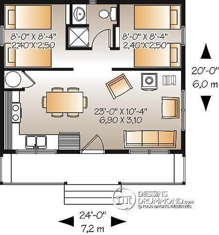Détail du plan de Maison unifamiliale W1904