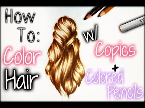 167 best COPIC HAIR COLORING images on Pinterest | Alcohol markers ...