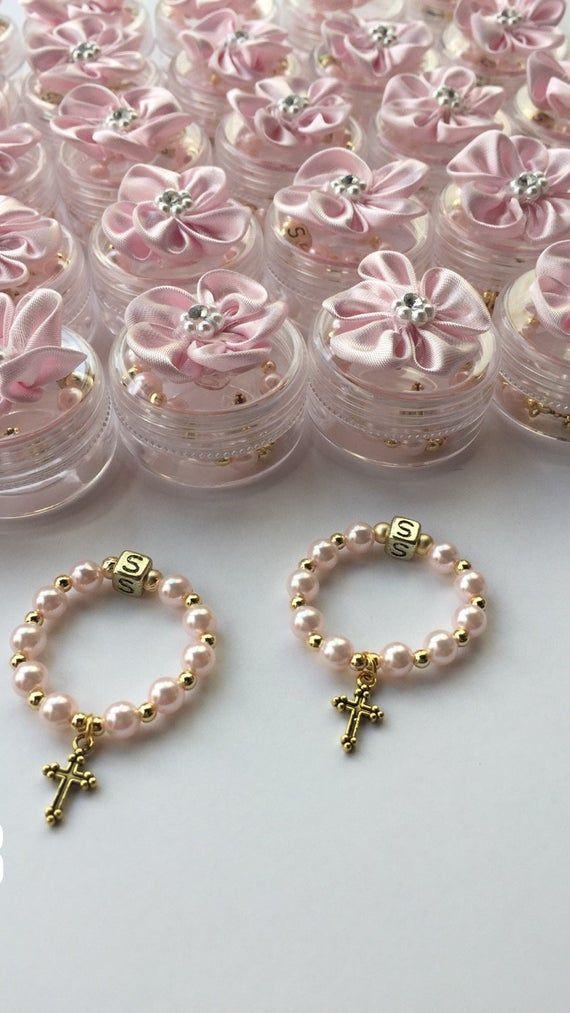 Llaveros Recuerdos Para Bautizo De Nina.20 Finger Rosary 20 Decorated Box Wedding Favors For Guest