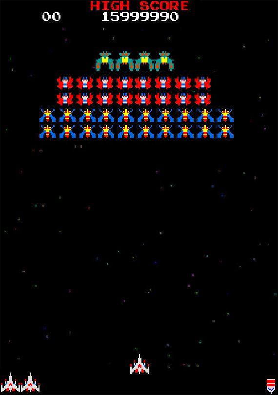 Galaga Level 1 Cross stitch pattern by PixelComfort on Etsy