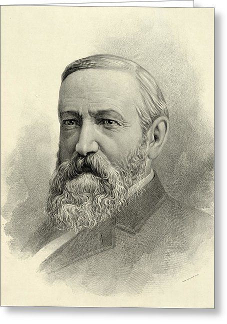 President Benjamin Harrison Greeting Card by International  Images