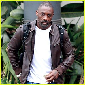 Idris Elba arriving in Cape Town for filing of the Dark Tower movie