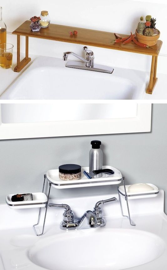 28.-Above-the-faucet-shelf.-Creates-extra-counter-space-29-Sneaky-Tips-For-Small-Space-Living