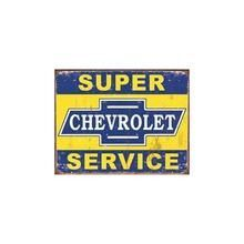 Tin Sign - Super Chevy Service Q484-034-1355