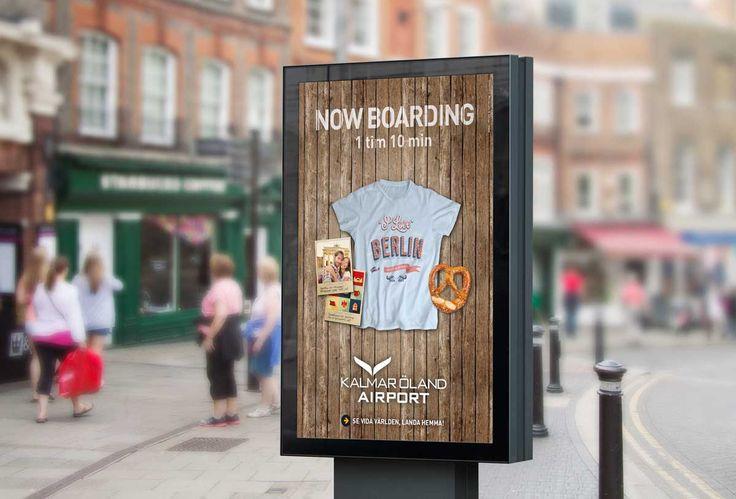 Souvenir-t-shirts marknadsför flygplatsens utbud!