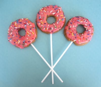 Doughnut Cookie Pops   for Kyle only in blue