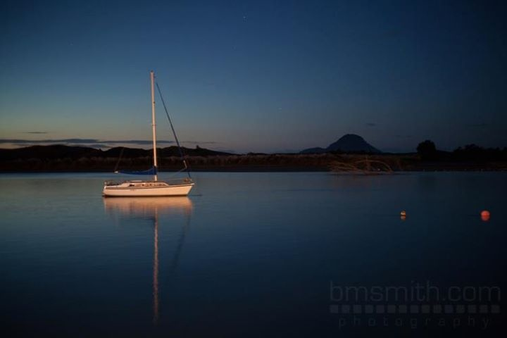 One calm evening at Whakatane Harbour