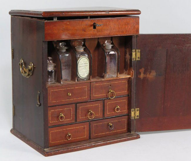 19th c. doctor's mahogany apothecary cabinet - 45 Best Medicine Chest Images On Pinterest Wooden Crates