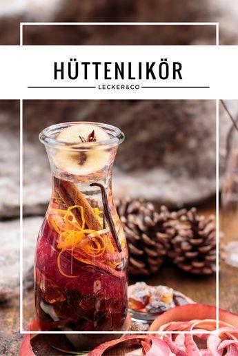 Hüttenlikör - Likör mit Apfel, Zimt, Vanille und Orange für kalte Winterabende