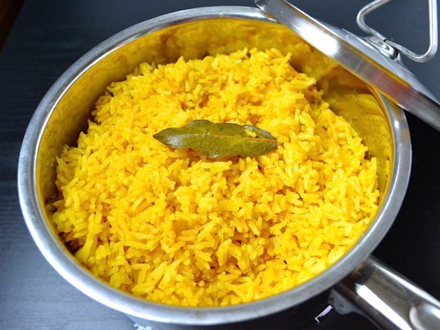 Yellow Jasmine Rice. This is heavenly stuff, I'm not lying. Turmeric is officially my new favorite spice.