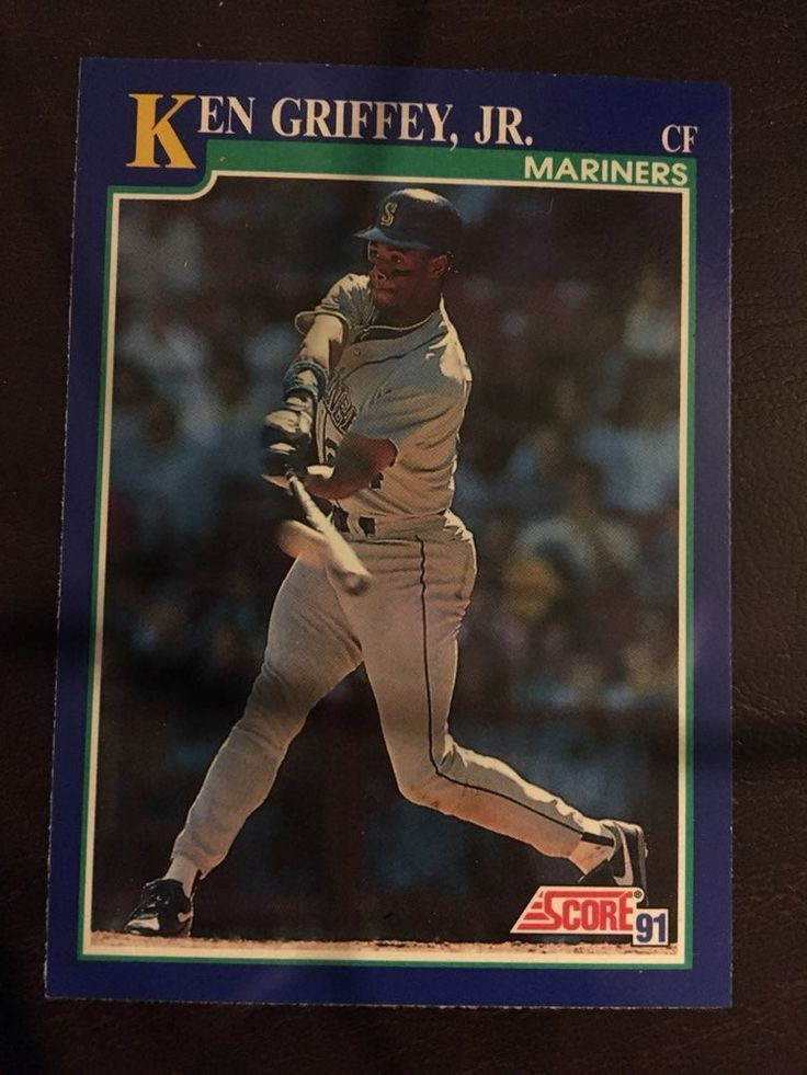 Ken griffey jr baseball card mariners cf baseball cards