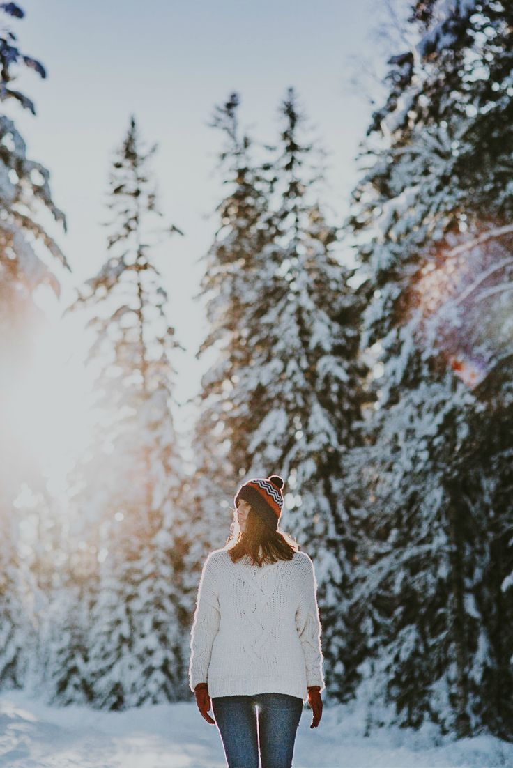 Winter Outfit for Women. Eco friendly sustainable fashion. Winter Wonderland Photography in Lapland Finland.