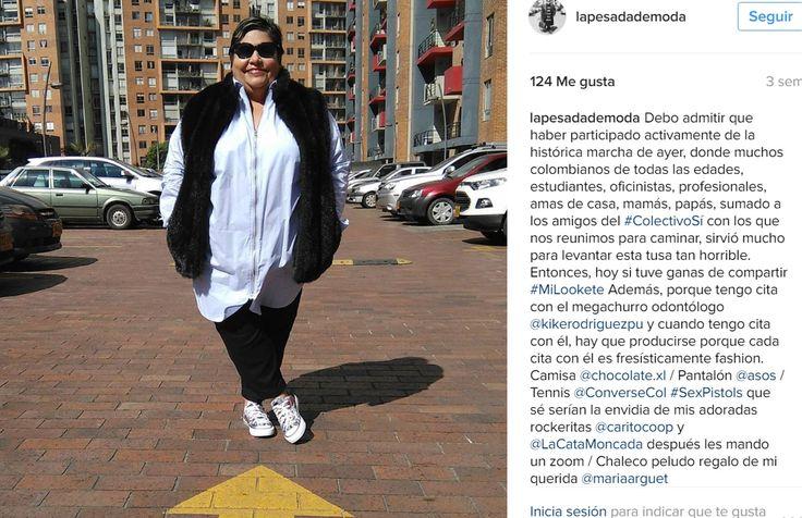 Gorda. Colombiana. Periodista de profesión, relacionista pública por obligación, profesora por gusto y blogger por hobby. No quería una red social más y ¡véanme!  Tallas grandes, plus size, plus size fashion, fatshionista.