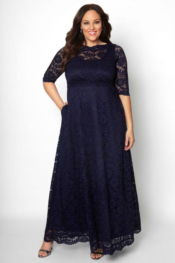 Leona Glitter Lace Gown Sale Evening Dresses Plus Size Plus Size Evening Gown Plus Size Gowns Formal