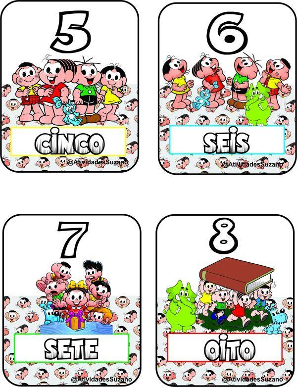 Cards De Numeros Turma Da Monica Em 2020 Turma Da Monica