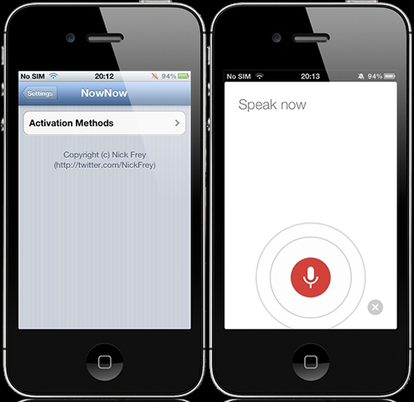 how to use google voice search on iphone