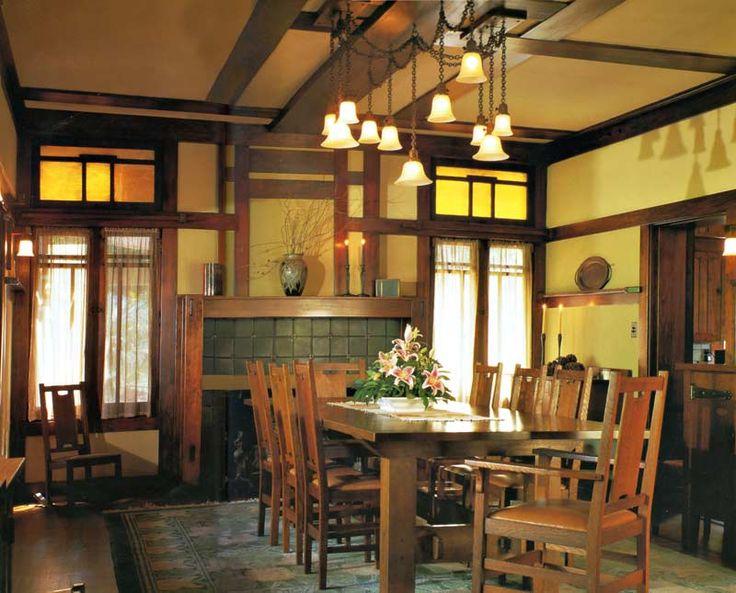 craftsman style lighting dining room